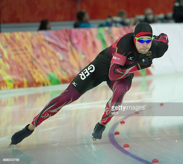 Germany's Samuel Schwarz competes during the Men's 500 meter race at Adler Arena during the Winter Olympics in Sochi Russia Monday February 10 2014