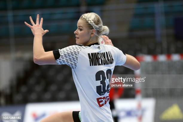 Germany's Shenia Minevskaja in action during a handball match between Germany and the DR Congo at the IHF Women's Handball World Championship in...