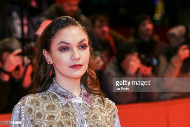 Germany's shooting star Emma Drogunova poses at the Vice premiere during the 69th Berlinale International Film Festival Berlin at Berlinale Palace on...