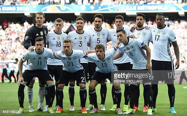 Germany's squad goalkeeper Manuel Neuer midfielder Toni Kroos defender Jonas Hector defender Mats Hummels forward Mario Gomez midfielder Sami Khedira...