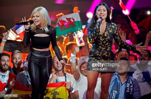 Germany's Ssters perform the song Sister during the Grand Final of the 64th edition of the Eurovision Song Contest 2019 at Expo Tel Aviv on May 18 in...