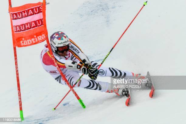 Germany's Stefan Luitz competes in the Men's Giant Slalom of the FIS Alpine World Cup on December 22, 2019 in Alta Badia, Dolomites.