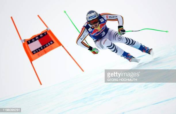 Germany's Thomas Dressen competes in men's downhill event at the FIS Alpine Ski World Cup in Kitzbuehel Austria on January 25 2020 / Austria OUT