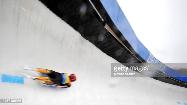 Germany's Tobias Wendl and Tobias Arlt race towards the finish line in first place during the luge world cup in Winterberg, Germany, 30 November...