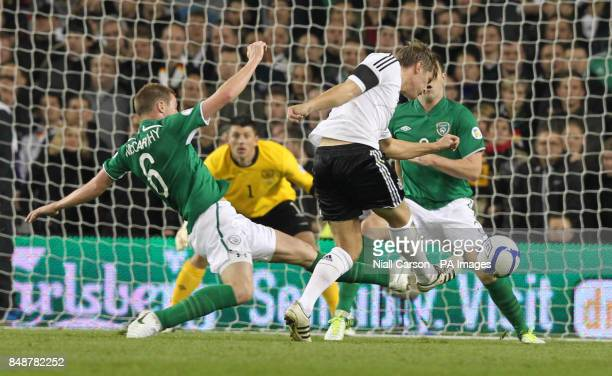 Germany's Toni Kroos scores his sides sixth goal during the 2014 FIFA World Cup Qualifying match at the Aviva Stadium Dublin Ireland