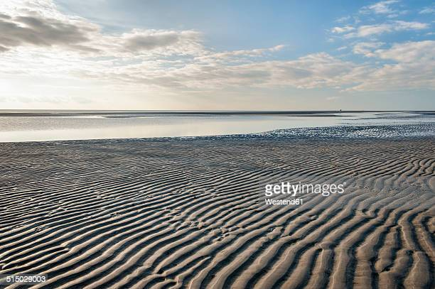 germany,schleswig-holstein, north sea, beach of sankt peter-ording - north sea stock pictures, royalty-free photos & images