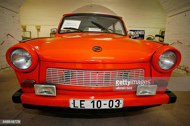 DEU GERMANY Germersheim at River Rhine Trabant station wagon at Deutsches Strassenmuseum This car was official car of the city street authority...