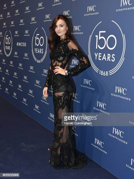 Germina Preses attends the IWC Schaffhausen Gala celebrating the Maison's 150th anniversary and the launch of its Jubilee Collection at the Salon...