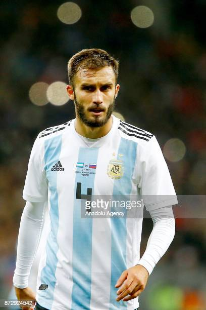 Germán Pezzella of Argentina is seen during the international friendly match between Russia and Argentina at BSA OC 'Luzhniki' Stadium in Moscow...