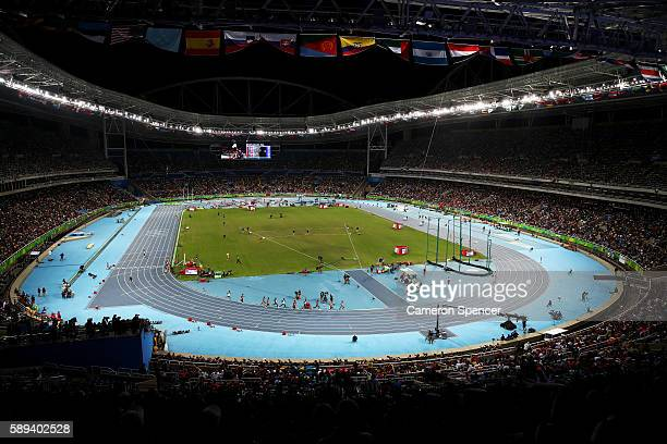 A gerneral view of the Men's 10000m on Day 8 of the Rio 2016 Olympic Games at the Olympic Stadium on August 13 2016 in Rio de Janeiro Brazil