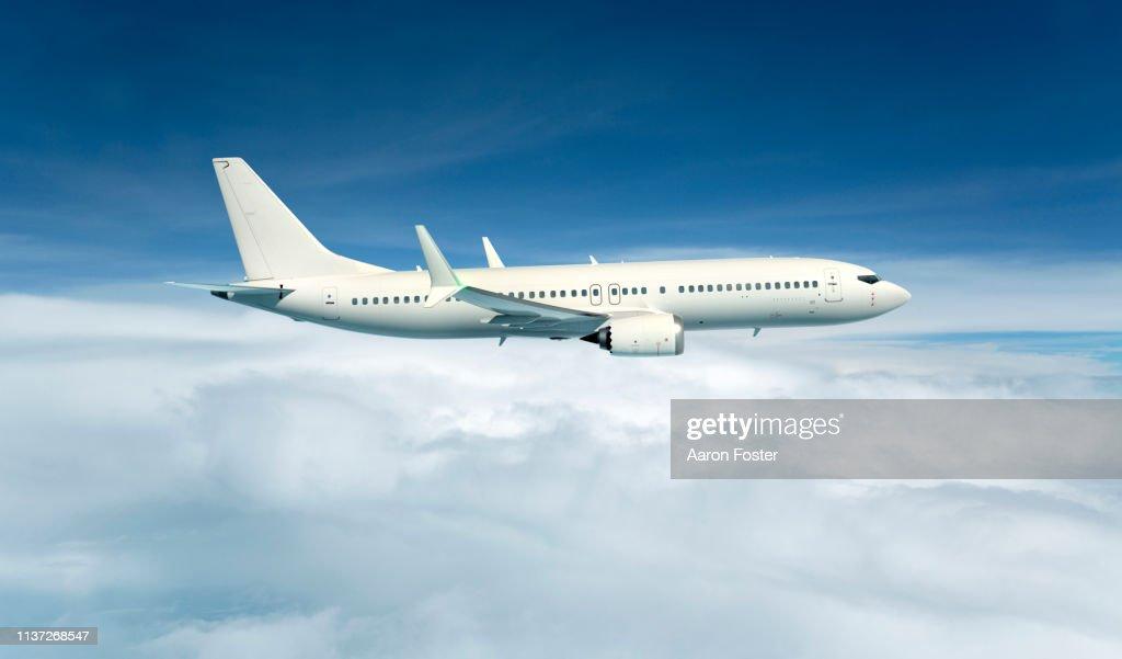 Gerneric Aircraft in flight : Stockfoto
