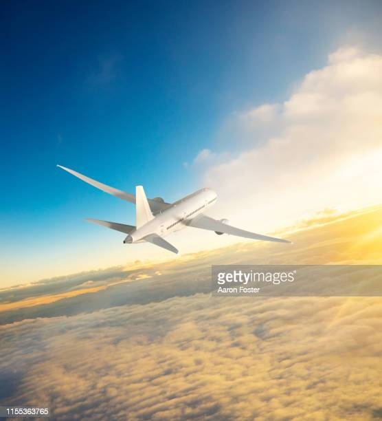 3d illustration commercial aircraft