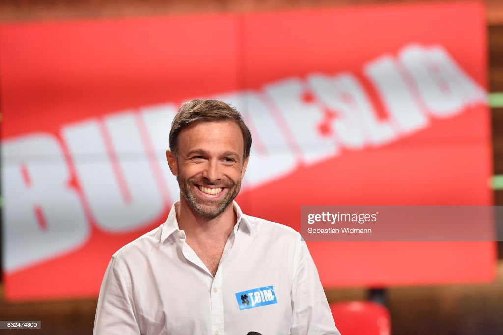 Gernot Bauer, head of sports for local sports production at Discovery Deutschland smiles during the Eurosport Bundesliga Media Day on August 16, 2017 in Unterfohring, Germany.