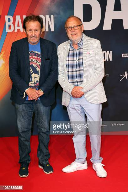 Gernot Roll and Joseph Vilsmaier during the premiere of the film 'Ballon' at Mathaeser Filmpalast on September 12 2018 in Munich Germany