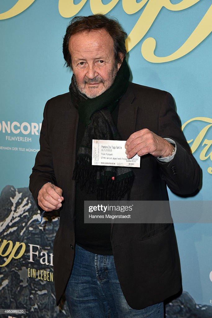 Gernot Roll attends 'Die Trapp Familie - Ein Leben fuer die Musik' German Premiere at Gloria Palast on November 2, 2015 in Munich, Germany.