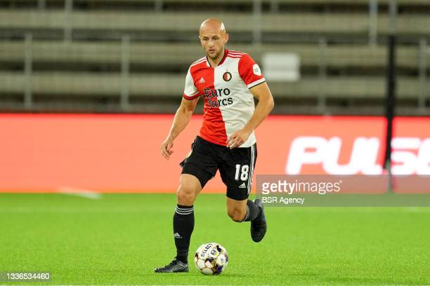 Gernot Trauner of Feyenoord during the UEFA Conference League match between IF Elfsborg and Feyenoord at Boras Arena on August 26, 2021 in Boras,...