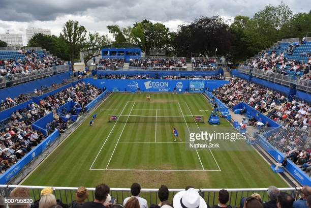 Gernral view of final match between Petra Kvitova of Czech Republic and Ashleigh Barty of Australia on day seven of The Aegon Classic Birmingham at...
