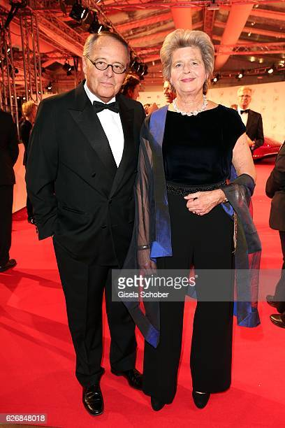 Gero von Boehm and his wife Christiane von Boehm during the Bambi Awards 2016 arrivals at Stage Theater on November 17 2016 in Berlin Germany