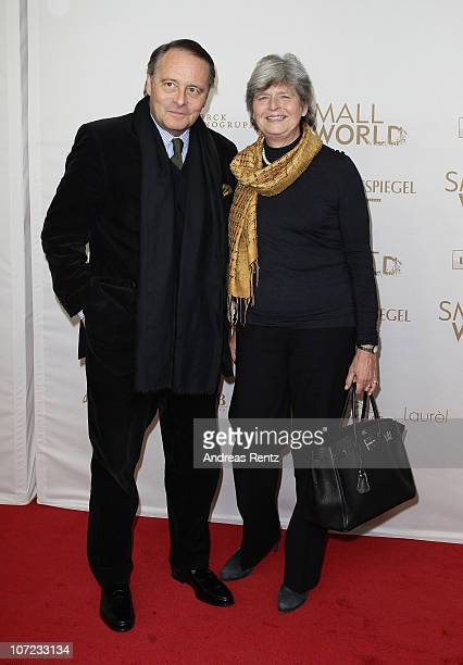 Gero von Boehm and wife attend the 'Small World' premiere at Cinema Paris on December 1 2010 in Berlin Germany