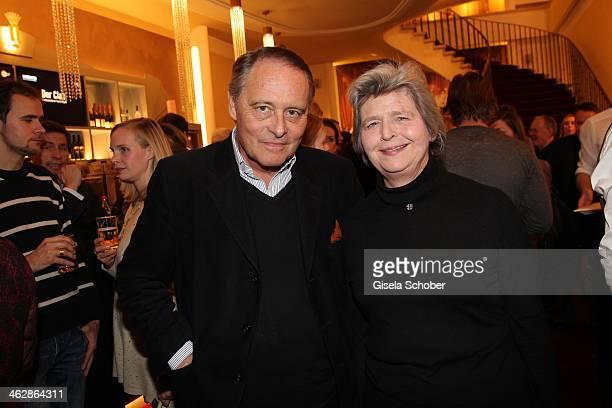 Gero von Boehm and wife Christiane attend the premiere of the film 'Der Clan Die Geschichte der Familie Wagner' at Gloria Palast on January 15 2014...