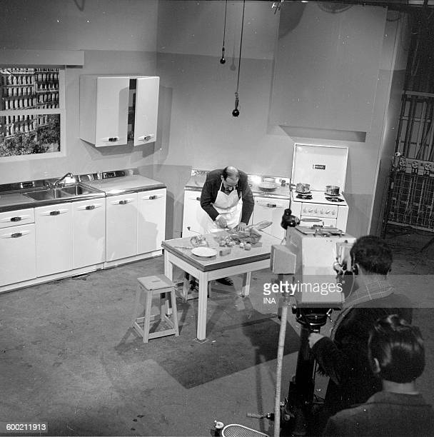 Geroges Adet in his cooking during the shooting of Monsieur X