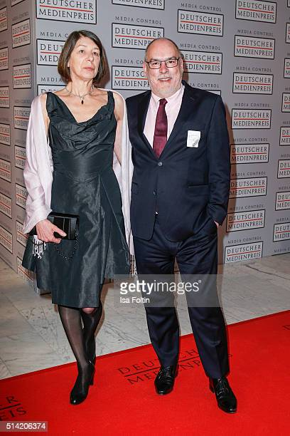 Gerold Hug and his wife attend the German Media Award 2016 on March 07 2016 in BadenBaden Germany
