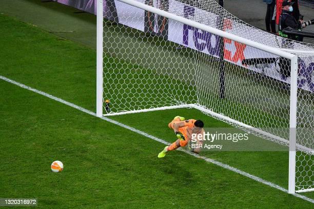 Geronimo Rulli of Villarreal CF during the UEFA Europa League Final match between Villarreal CF and Manchester United at Stadion Energa Gdansk on May...