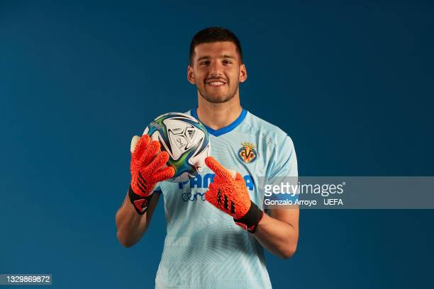 Geronimo Rulli of Villarreal poses for a portrait during the UEFA Super Cup media access day on July 19, 2021 in Villarreal, Spain.