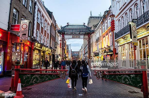Gerrard Street in London China Town