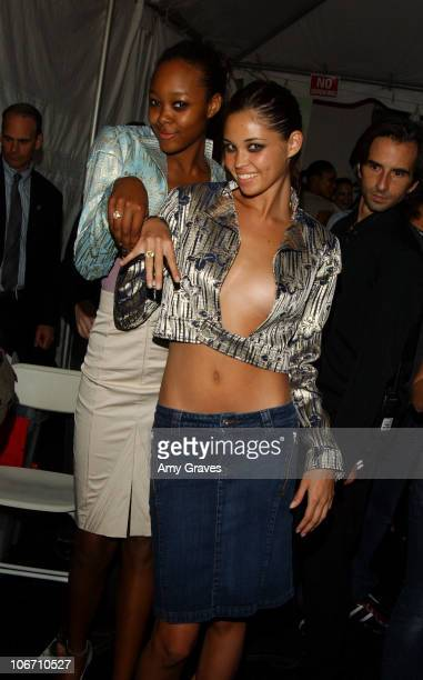 Gerren Taylor and model during 2003 Smashbox Fashion Week Los Angeles Alvin Valley Spring Collection 2004 Arrivals and Backstage at Smashbox Studios...