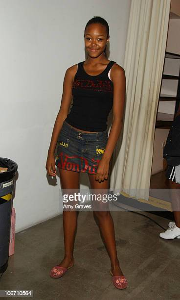 Gerren Taylor during 2003 Smashbox Fashion Week Los Angeles Alvin Valley Spring Collection 2004 Arrivals and Backstage at Smashbox Studios in Culver...