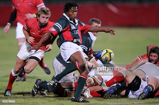 Gerrie Odendaal about to tackle Vuyo Zangqa during the Absa Currie Cup Promotion and Relegation match between Valke and Platinum Leopards held at...