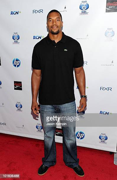 Gerris Wilkinson of the NY Giants attends NY Giant Justin Tuck's Celebrity Billiards Tournament at Slate on June 3 2010 in New York City