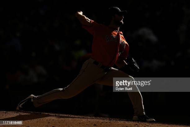 Gerrit Cole of the Houston Astros pitches in the fifth inning against the Milwaukee Brewers at Miller Park on September 02 2019 in Milwaukee Wisconsin