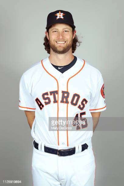 Gerrit Cole of the Houston Astros poses during Photo Day on Tuesday February 19 2019 at the FITTEAM Ballpark of the Palm Beaches in West Palm Beach...