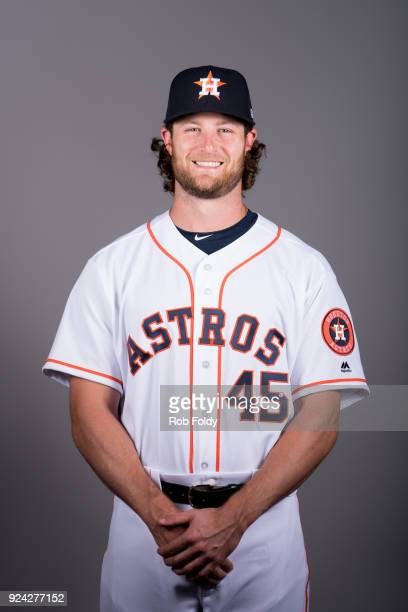 Gerrit Cole of the Houston Astros poses during Photo Day on Wednesday February 21 2018 at the Ballpark of the Palm Beaches in West Palm Beach Florida