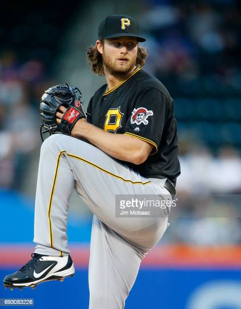 Gerrit Cole of the Pittsburgh Pirates in action against the New York Mets at Citi Field on June 2 2017 in the Flushing neighborhood of the Queens...
