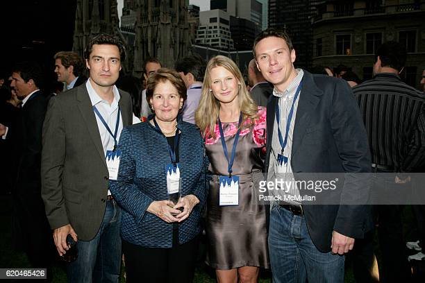 Gerrit Meier Nina Zagat Maxine Friedman and Daniel Klaus attend FOUNDERS CLUB New York BARRY DILLER welcome TIM ARMSTRONG JON MILLER at Roof Garden...