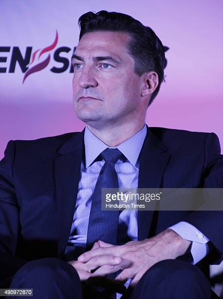 Gerrit Meier President WWE International during the press conference of the WWE Live India announcement event at Vasant Kunj on November 4 2015 in...