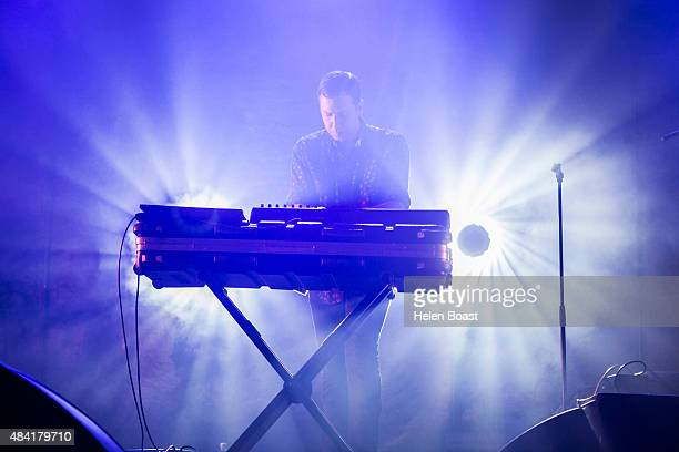 Gerrit Welmers of Future Islands performs on Day 2 of Flow Festival on August 15 2015 in Helsinki Finland