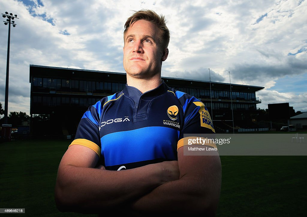 Gerrit-Jan van Velze of Worcester Warriors poses for a portrait at the photocall held at Sixways Stadium on September 23, 2015 in Worcester, England.