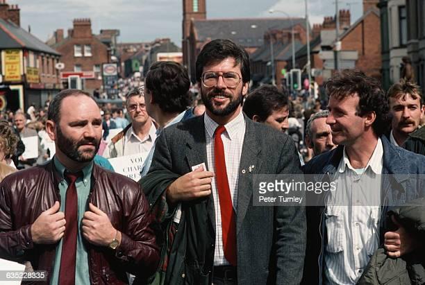 Gerry Adams in Bogside