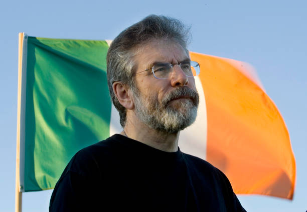 Sinn Fein President Gerry Adams Speaks On The Irish Peace Process