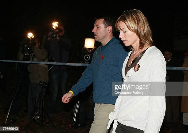 Gerry and Kate McCann arrive at the Church of St Mary and St John in their home village of Rothley for a prayer service to mark six months since...