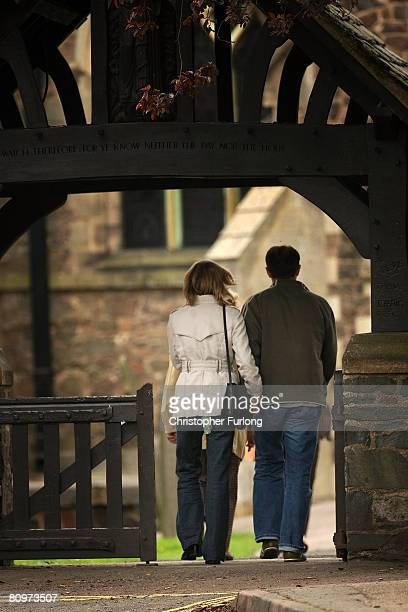Gerry and Kate McCann arrive at the Church of St Mary and St John in their Leicestershire home town of Rothley for a prayer service to mark one year...