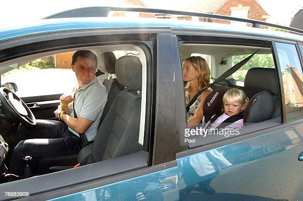 Gerry and Kate McCann leave their home today to take their children Amelie and Sean to a local play park on September 12 2007 in Rothley England...