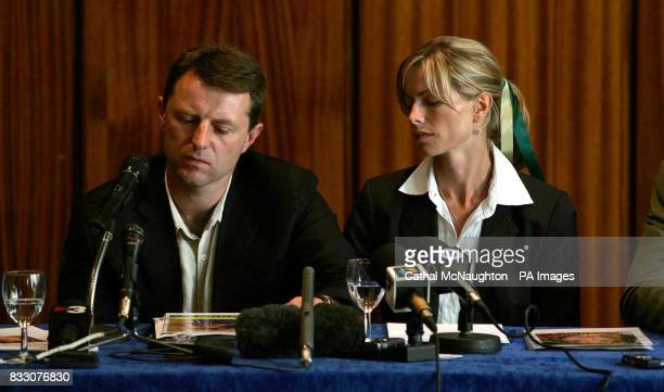 Gerry and Kate McCann pictured during a press conference in the Hilton Hotel Rabat during their visit to Morocco Kate and Gerry McCann flew from...