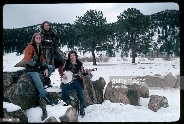Gerry Beckley Dewey Bunnel and Dan Peek of folkrock trio America stand in snow America is best remembered for the anthemic 'A Horse with no Name'