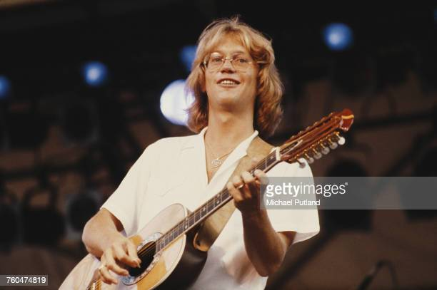 Gerry Beckley performing with AngloAmerican folk rock band America June 1979