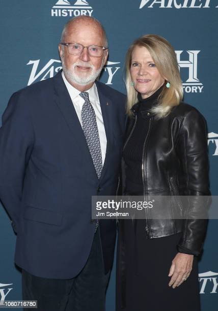 Gerry Byrne and reporter Martha Raddatz attend the 2nd Annual Variety Salute to Service at Cipriani Downtown on November 12 2018 in New York City
